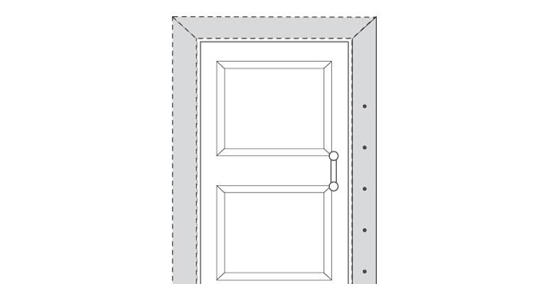 how to put up architrave step 12