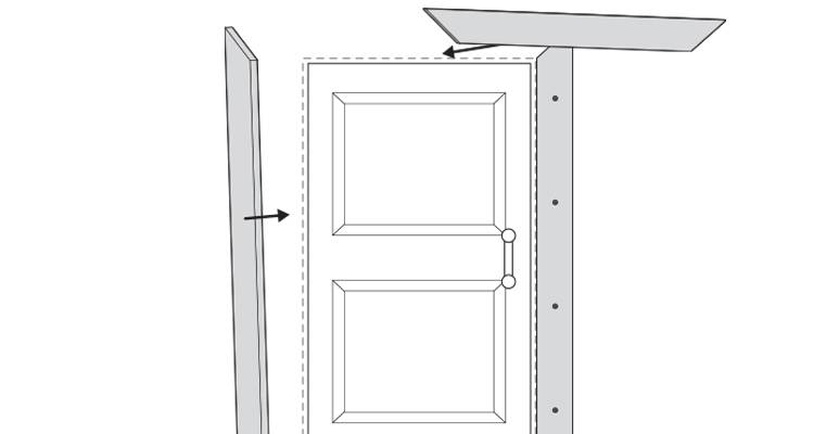 how to put up architrave step 14