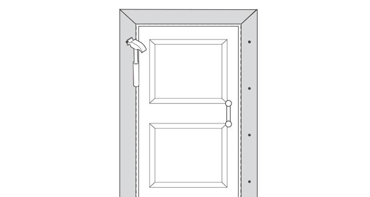 how to put up architrave step 15