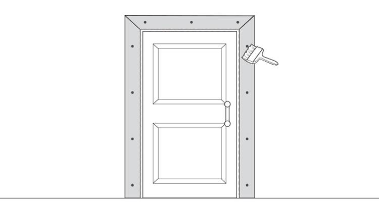 how to put up architrave step 16