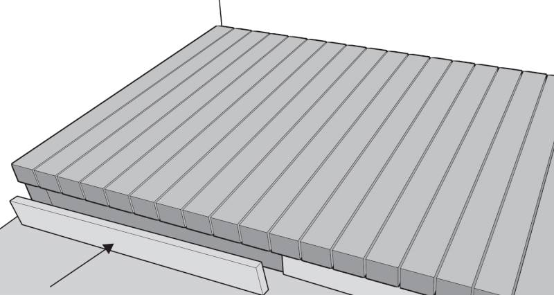 How to install garden decking step 14