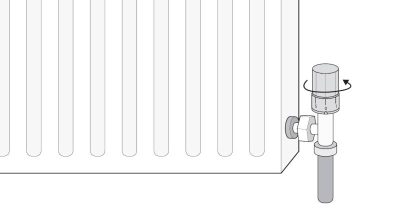 how to isolate a radiator with a turn valve