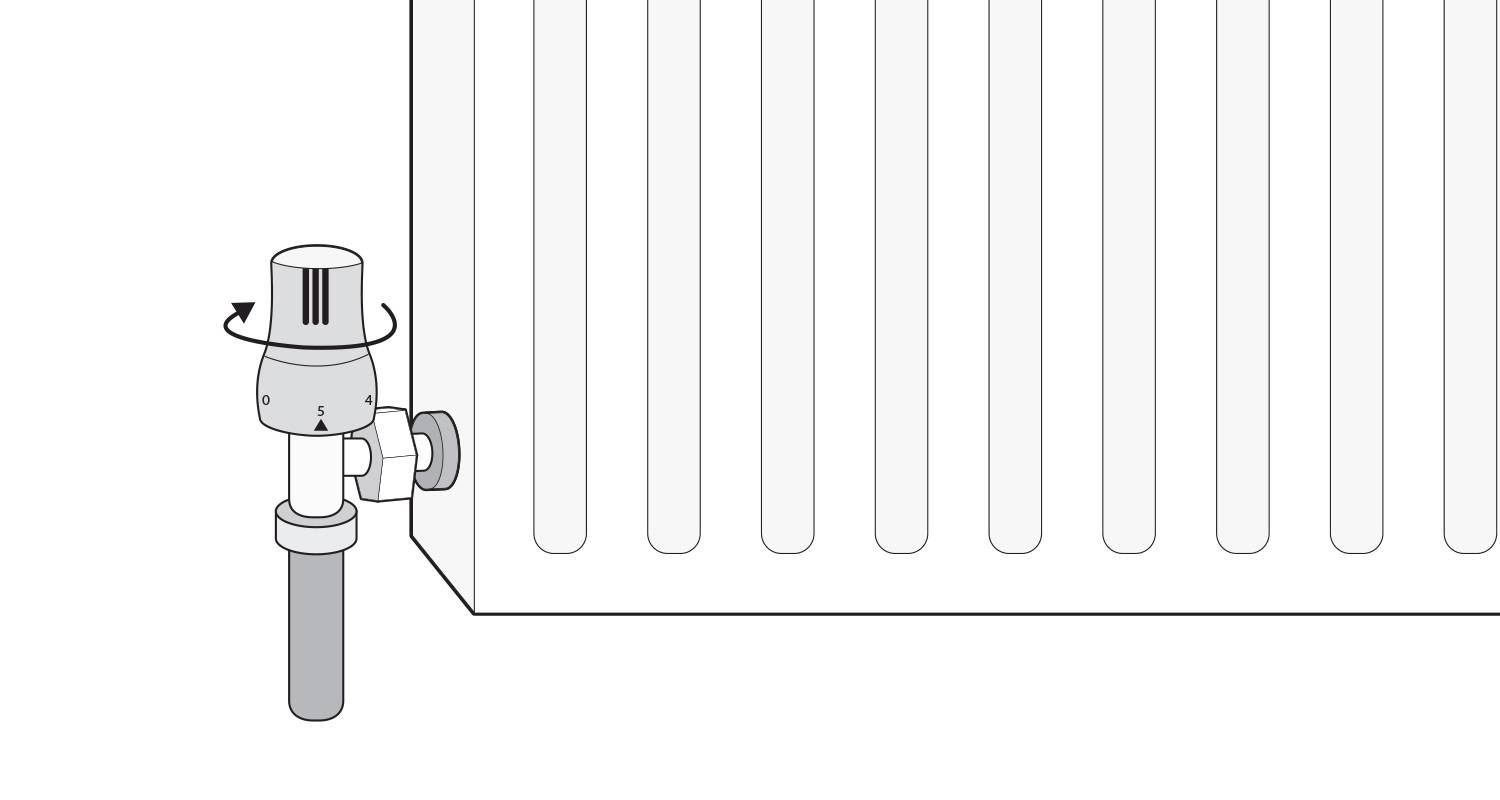 how to isolate a radiator with a thermostatic valve