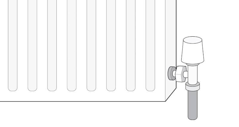 how to isolate a radiator with a lockshield valve step 1