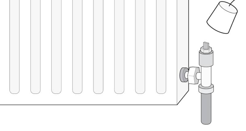 how to isolate a radiator with a lockshield valve step 2