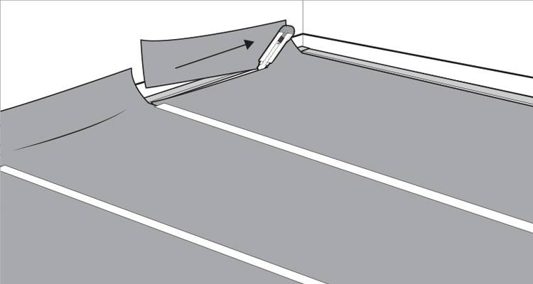 how to lay carpet step 6