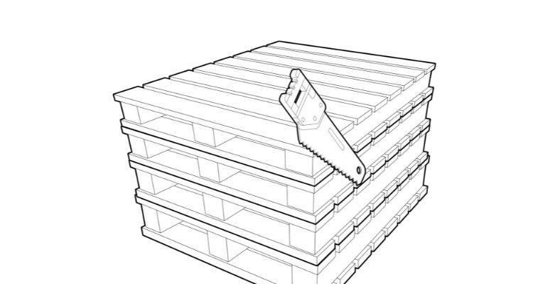How to make a compost bin step 1