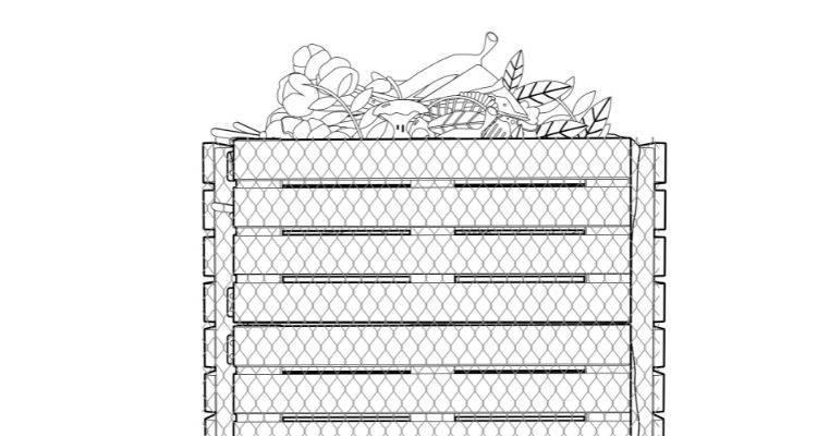 How to make a compost bin step 10