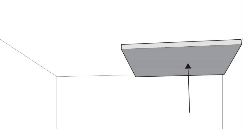 how to plasterboard a ceiling step 1