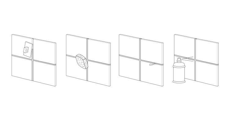how to tile a bathroom wall step 9