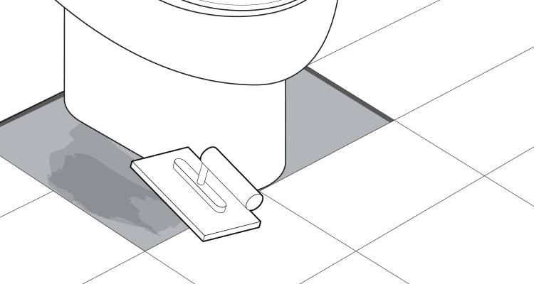 how to tile around a toilet step 14