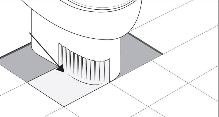 how to tile around a toilet step 4