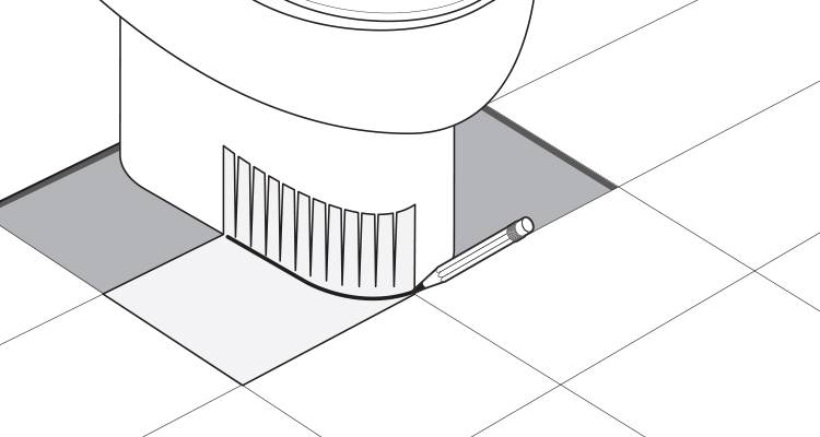 how to tile around a toilet step 5