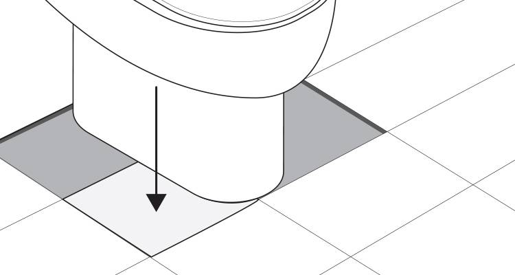 how to tile around a toilet step 7