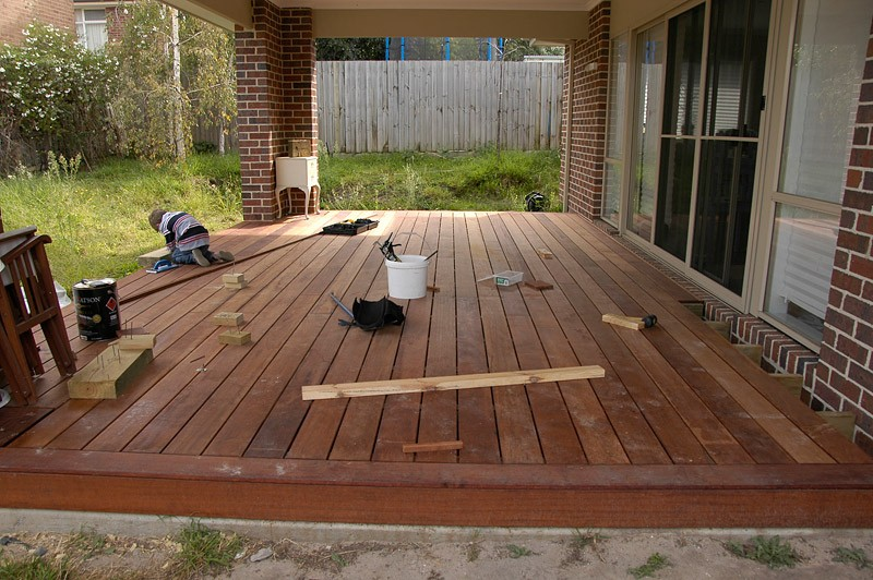 Building your own decking area for Decking framework timber