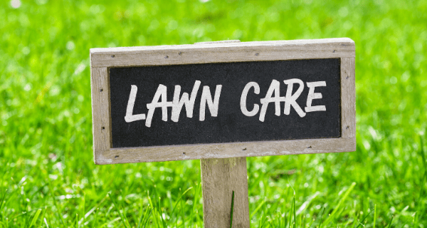 Sign that reads Lawn Care