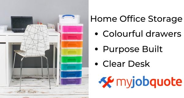 Image with office storage ideas