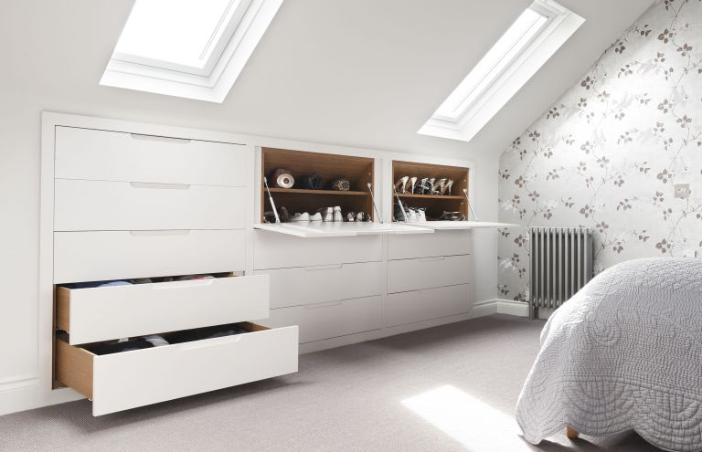 white bedroom loft conversion