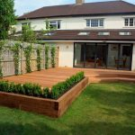 Decking in a back garden