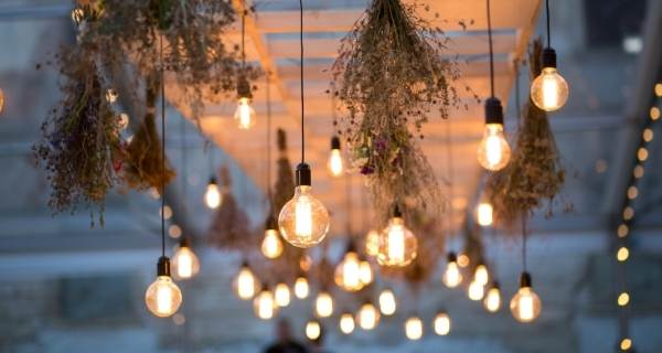 outdoor lights hanging from wooden frame2