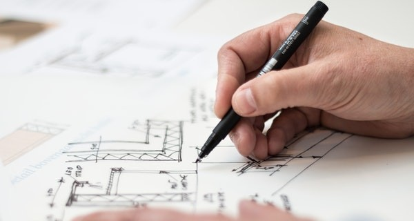 Drawing plans for an extension