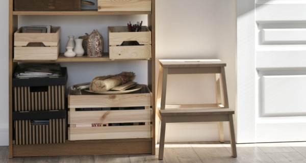 storage on a shelf unit