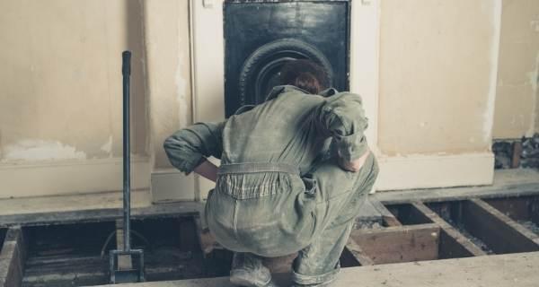 chimney sweep fireplace