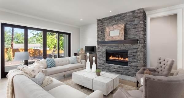 slate fireplace modern