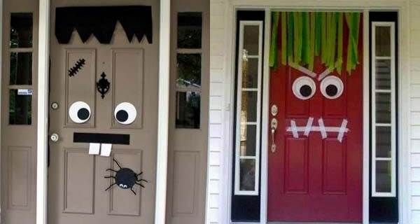 door decorations with goggly eyes