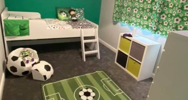 football theme childs room
