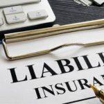 Liability Insurance on a clip board