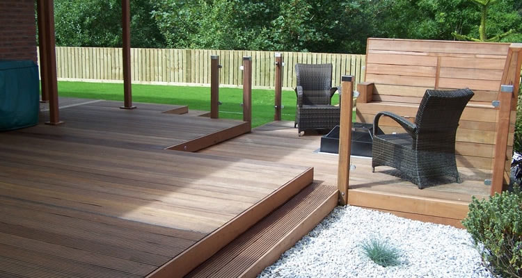 Average cost of laying decking materials and labour for Photos terrasse en bois